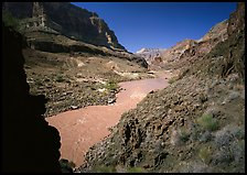 Colorado River with chocolate-colored waters in fall. Grand Canyon National Park, Arizona, USA.