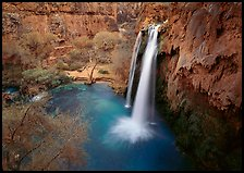 Havasu Falls, Havasu Canyon. Grand Canyon National Park, Arizona, USA.
