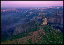 Mount Hayden from Point Imperial, sunset. Grand Canyon National Park ( color)
