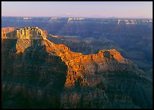 View from Point Sublime, late afternoon. Grand Canyon National Park, Arizona, USA.
