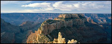 Canyon landscape from Cape Royal. Grand Canyon National Park (Panoramic color)