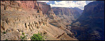 Secondary Canyon. Grand Canyon National Park (Panoramic color)
