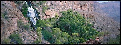 Thunder Spring waterfall. Grand Canyon National Park (Panoramic color)