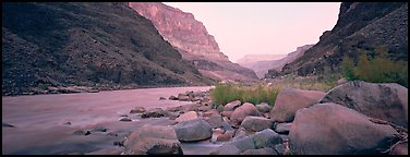 Colorado River at dawn. Grand Canyon National Park (Panoramic color)