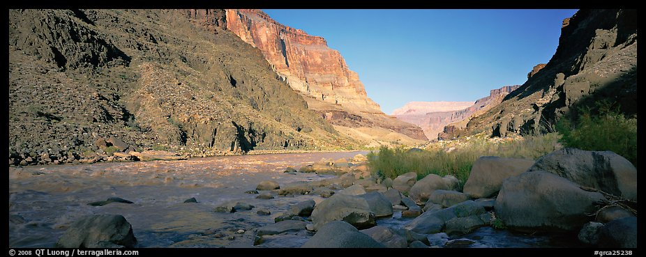 Colorado River at the confluence with Tapeats Creek. Grand Canyon National Park (color)