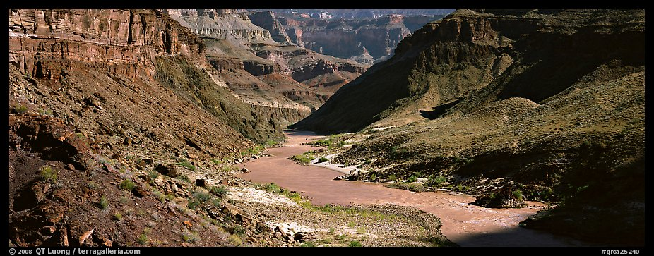 Colorado River meandering through canyon. Grand Canyon National Park (color)