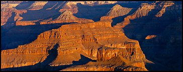 Canyon buttes. Grand Canyon National Park (Panoramic color)