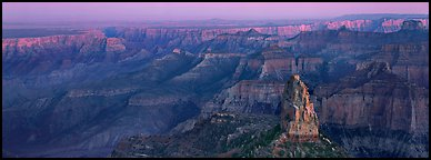 Scenery seen from Point Imperial. Grand Canyon National Park (Panoramic color)