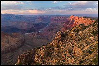 Palissades of the Desert at sunset. Grand Canyon National Park ( color)