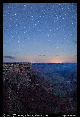 View from Moran Point at night. Grand Canyon National Park (color)