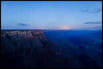 View from Moran Point with late night stars. Grand Canyon National Park ( color)