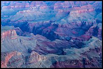 Colorado river gorge and buttes at dawn. Grand Canyon National Park, Arizona, USA.