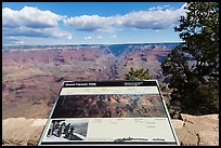 Iinterpretive sign, Mather Point. Grand Canyon National Park ( color)