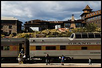 Grand Canyon train and El Tovar Hotel. Grand Canyon National Park ( color)