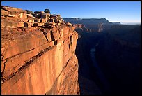 Cliff and Colorado River at Toroweap, sunrise. Grand Canyon National Park, Arizona, USA.
