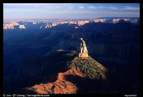 Mount Hayden from Point Imperial, late afternoon. Grand Canyon National Park, Arizona, USA.