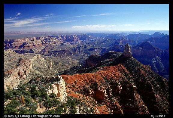 View from Point Imperial, morning. Grand Canyon National Park, Arizona, USA.