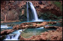Travertine formations and Havasu falls. Grand Canyon National Park ( color)