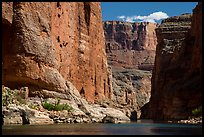 Huge Redwall limestone canyon walls in Marble Canyon. Grand Canyon National Park ( color)