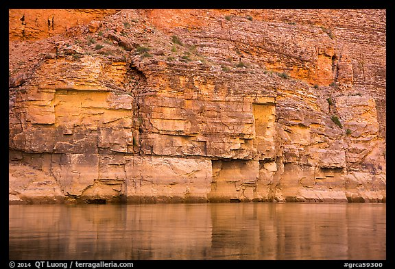 Geometric cliffs and reflections, Marble Canyon. Grand Canyon National Park (color)