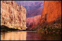 River-level view of redwalls in Marble Canyon. Grand Canyon National Park ( color)