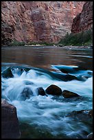Colorado River rapids. Grand Canyon National Park ( color)