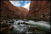Rapids and boulders in Marble Canyon. Grand Canyon National Park ( color)