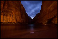 Marble Canyon, clouds, and stars. Grand Canyon National Park ( color)