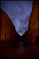 Marble Canyon at night. Grand Canyon National Park ( color)