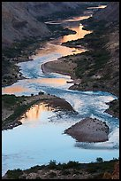 Reflections on the meanders of the Colorado River, Nankoweap. Grand Canyon National Park, Arizona, USA.