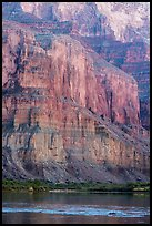 Cliffs above the Colorado River, Marble Canyon. Grand Canyon National Park ( color)