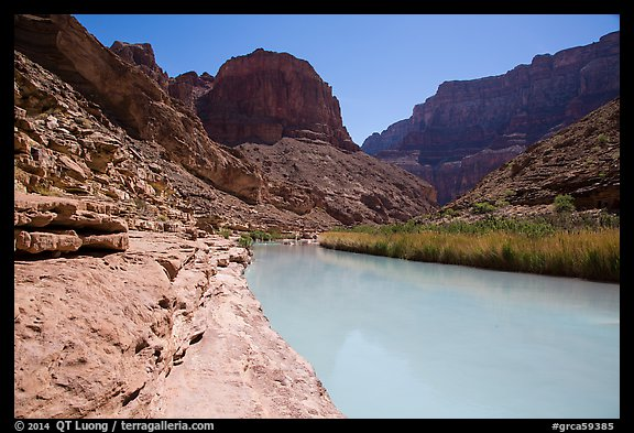 Turquoise Little Colorodo River in Little Colorado Canyon. Grand Canyon National Park (color)