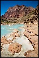 Little Colorodo River with turqouise waters in the spring below Chuar Butte. Grand Canyon National Park ( color)