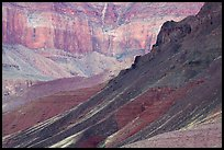 Slopes and cliffs, Escalante Butte. Grand Canyon National Park ( color)