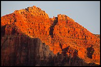 Last light illuminates distant cliffs. Grand Canyon National Park ( color)