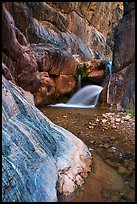 Clear Creek Canyon with waterfall. Grand Canyon National Park ( color)