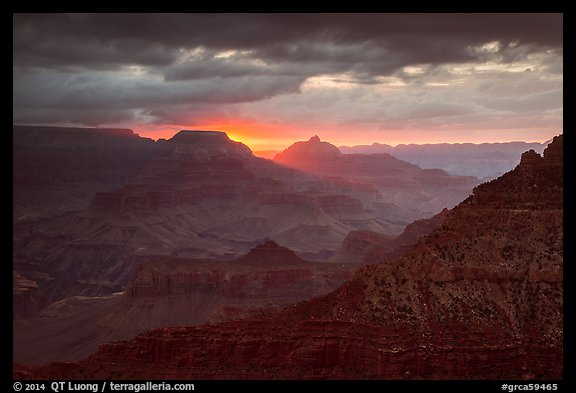Stormy sunrise. Grand Canyon National Park (color)