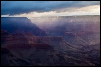 Clouds over distant rim. Grand Canyon National Park ( color)