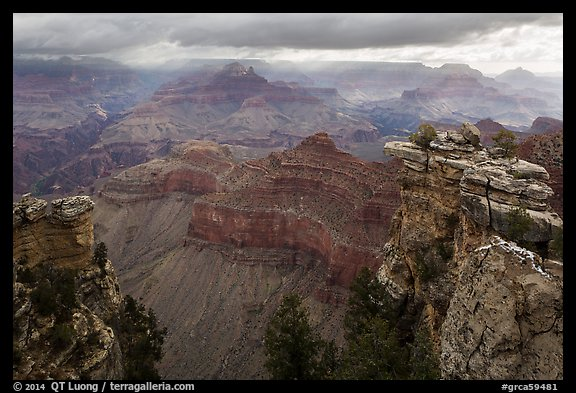 Storm clouds over Grand Canyon near Mather Point. Grand Canyon National Park (color)