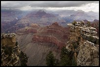 Storm clouds over Grand Canyon near Mather Point. Grand Canyon National Park ( color)