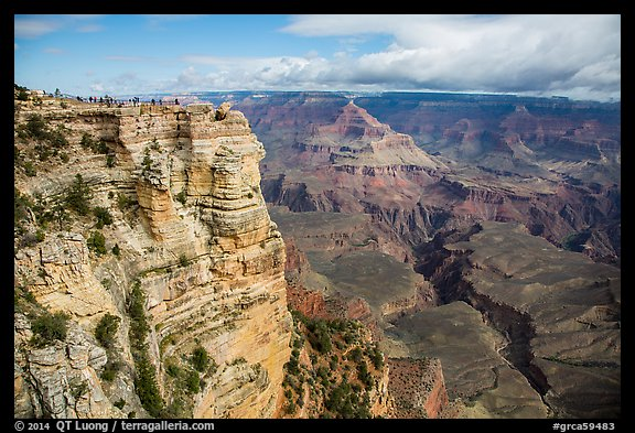 Tourists on Mather Point. Grand Canyon National Park (color)