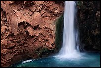 Pool and base of Mooney falls. Grand Canyon National Park ( color)