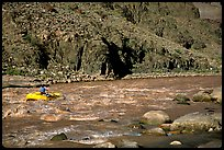 Rafting on  Colorado River. Grand Canyon National Park ( color)