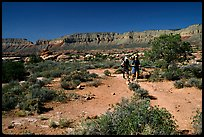 Backpackers on  Esplanade, Thunder River and Deer Creek trail. Grand Canyon National Park ( color)