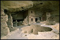 Kiva in Balcony House, Chapin Mesa. Mesa Verde National Park ( color)