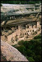 Cliff Palace, late afternoon. Mesa Verde National Park ( color)