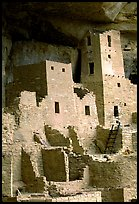 Square Tower in Cliff Palace. Mesa Verde National Park ( color)