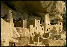 Ancestral pueblan dwellings in Cliff Palace. Mesa Verde National Park ( color)