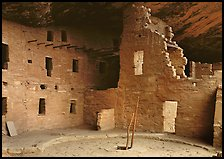 Kiva in Spruce Tree house. Mesa Verde National Park ( color)