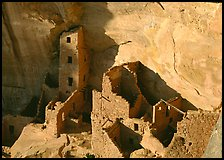 Square Tower house, late afternoon. Mesa Verde National Park ( color)